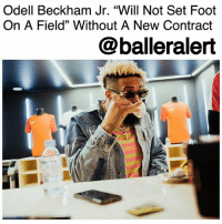 "Memes, New York, and New York Giants: Odell Beckham Jr. ""Will Not Set Foot  On A Field"" Without A New Contract  @balleralert Odell Beckham Jr. ""Will Not Set Foot On A Field"" Without A New Contract – blogged by @MsJennyb ⠀⠀⠀⠀⠀⠀⠀⠀⠀ ⠀⠀⠀⠀⠀⠀⠀⠀⠀ Odell Beckham Jr. is reportedly prepared to go the distance in his desire for a contract extension with the New York Giants. ⠀⠀⠀⠀⠀⠀⠀⠀⠀ ⠀⠀⠀⠀⠀⠀⠀⠀⠀ Last year, the wide receiver made it clear that he would not be holding out for an extension, as he believed it never really worked. But, this year, the baller seems to have had a change of heart, as NFL Network's Ian Rapoport says Beckham ""will not set foot on a field"" until an extension is in place. ⠀⠀⠀⠀⠀⠀⠀⠀⠀ ⠀⠀⠀⠀⠀⠀⠀⠀⠀ Prior to Beckham's season ending injury last season, the wide receiver was a beast on the field. With at least 90 receptions, 1,300 yards and 10 touchdowns, Beckham was, and still is, an elite talent. But, when it comes to a new contract, John Mara said his star player is not ""untouchable,"" in regard to the possibility of a trade over a new deal. ⠀⠀⠀⠀⠀⠀⠀⠀⠀ ⠀⠀⠀⠀⠀⠀⠀⠀⠀ Last season the team went just 3-13, but further details of Beckham's deal and possibility of an extension remain unclear."