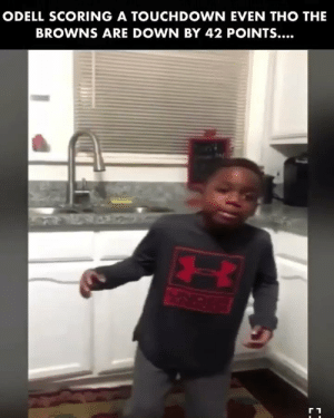 Maaaaan!! I feel yo pain.  Who's little boy is this?!! https://t.co/J30QtORbNe: ODELL SCORING A TOUCHDOWN EVEN THO THE  BROWNS ARE DOWN BY 42 POINTS... Maaaaan!! I feel yo pain.  Who's little boy is this?!! https://t.co/J30QtORbNe