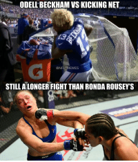 Happy New Years! Who blew up some shit tonight?: ODELLBECKHAM VSKICKING NET  NFL MEMES  STILL ALONGER FIGHTTHAN RONDA ROUSEY'S Happy New Years! Who blew up some shit tonight?