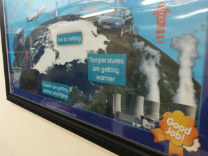 cursed_poster: OE56 DMU  Ice is melting  Temperatures  are getting  warmer  Oceans are getting  warmer and higher  Good  Job!  Good Job! 6& Pearson Education, 2011  CO2  ZOO  74N  0OB1 cursed_poster