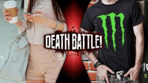 Monster, Starbucks, and Tumblr: OEATH BATLE death-battle-prompts:  WHITE GIRL WHO SHOWS UP LATE TO CLASS WITH STARBUCKS vs WHITE GUY WHO SHOWS UP LATE TO CLASS WITH A CAN OF MONSTER