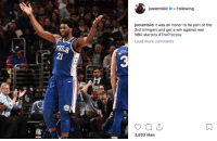 Joel Embiid: Troll King: oelembiidFollowing  oelembiid It was an honor to be part of the  3rd stringers and get a win against real  NBA starters #TheProcess  Load more comments  21  3  3,833 likes Joel Embiid: Troll King