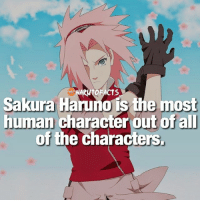 Memes, Inhumanity, and 🤖: OF ACTS  Sakura  Haruno is the most  human character out of all  of the characters Except for her inhuman strength 😅   Sakura or Tsunade? Who's your favorite? 🤔   follow @marvelousfacts