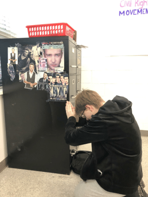 Of all the good times I have had with you all, I have come to the conclusion I am cis. I thank you all for your support and wish you well on each of your journeys through life. I will miss you all dearly and wish you all the best. (Pic is me, praying to my English teacher's Justin Timberlake shrine): Of all the good times I have had with you all, I have come to the conclusion I am cis. I thank you all for your support and wish you well on each of your journeys through life. I will miss you all dearly and wish you all the best. (Pic is me, praying to my English teacher's Justin Timberlake shrine)