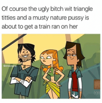 """Bitch, Confused, and Memes: Of course the ugly bitch wit triangle  titties and a musty nature pussy is  about to get a train ran on her  @atlsavage """"yes"""" spongebob thought to himself. He walked over to the door and opened it. Squidward was dressed in a sexy dress...ok, a fancy top and no pants wink wink He was holding what seemed like a white basket filled to the top with something that was covered. """"whats in the basket?"""" Spongebob asked. """"A surprise!"""" Squidward showered him in flowers and walked inside. He dumped his basket and out flew a couple of packets of something. """"Woooooooooowwwwwwwwww...Whats that?"""" """"These..."""" Said squidward, """"Are condoms"""" """"What are they?"""" Spongebob acted confused. """"Well, put one on and I will tell you. Here, I'll put it on for you, take off your pants..."""""""