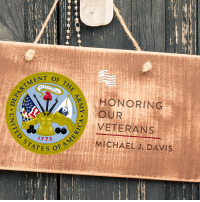 """America, Love, and Soldiers: OF  ENT RTM THE  HONORING  OUR  VETERANS  A STATES O  MICHAEL J. DAVIS Thank you to Cheryl Davis for submitting Michael J. Davis to Secure America Now's Home of the Free Because of the Brave veteran recognition program! Cheryl says, """"My veteran is my husband and my hero. He served in the U.S. Army from 66-67. We were engaged when he was drafted and proudly served his country. He was an honorable soldier, and I missed him terribly and worried every day for his safe return. That boy came back to me two years later. A stronger, better person...a man! A proud American. We were married a few months later, and it's been 46 years and 2 lovely daughters later... He is still my proud American soldier boy.""""  Tell Michael J. Davis thank you for his service to our country!"""