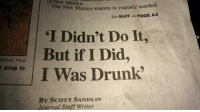 "Drunk, Tumblr, and Blog: of  Now  Mexico.  The New Mexico statute is vaguely wo  rded  Sée SUIT on PAGE A2  I Didn't Do It  But if I Did,  I Was Drunk  RNAL FILE  t drop in  By ScoTT SANDLIN  Yournal Staff Writer <p><a href=""http://lolsupport.tumblr.com/post/150394487247/57-on-the-excuse-scale"" class=""tumblr_blog"">lolsupport</a>:</p>  <blockquote><p>5/7 on the excuse scale</p></blockquote>"