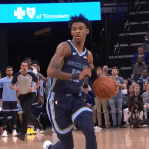Ja Morant gets the steal, hits Lou Williams with a behind the back move & scores! https://t.co/oaBAzEvx1E: of Tennessee  GRIZZLES  GRIZZ  SPL Ja Morant gets the steal, hits Lou Williams with a behind the back move & scores! https://t.co/oaBAzEvx1E