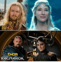 9gag, Memes, and Live: OF THE  RINGS  THOR  RAGNAROK You either die a Hero, or live long enough to see yourself become the villain. ⚡️ Follow @9gag - - - 9gag thor thorragnarok marvel lotr lordoftherings cateblanchett Galadriel karlurban