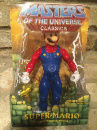 "Super Mario, Tumblr, and Twitter: OF THE UNIVERSE  CLASSICS  ADULT  COLLECTOR  SUPER MARIO  UPER POWERED PLUMBER  FIGURE siryouarebeingmocked:  horrible-monstrosity: siryouarebeingmocked:  suppermariobroth:  Unlicensed ""Masters of the Universe"" Mario figure. Main Blog 