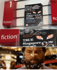 Memes, True, and Ghost: of  TRUE A  Singapore  GHOST  STORIES  fic  fiction  By RUSSELL LEE  Image credits to /u/shefod  fictionSCAS  TRUE  Singapore  4K(1 K)  Por  and = Real eyes realise real lies