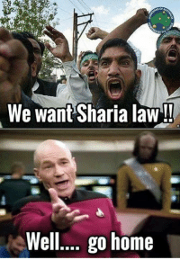 Memes, Home, and 🤖: OF  We want Sharia law!  Well.. go home