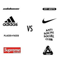 Left or right? 🤔👇 WSHH: OFF-HHITE  adidas  ANTI  SOCIAL  SOCIAL  CLUB  PLACES+FACES  Supreme  @BrandBattles  PALACE Left or right? 🤔👇 WSHH