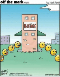 Emoji, aol.com, and Movie: off the mark.com  by Mark Parisi  BOTOX  MARK  7 2o MarkParisi@aol.com  e2017 Mark Parisi Dist by Andrews McMeel Synd  offthemark.com