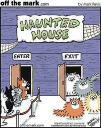 """<p>Spoopy Cats via /r/wholesomememes <a href=""""http://ift.tt/2ymcco2"""">http://ift.tt/2ymcco2</a></p>: off the mark.conm  by Mark Parisi  MAUNTE  HOUSE  ENTER  EXIT  otfthemark.com  MarkParisi @aol com P0-ゆ <p>Spoopy Cats via /r/wholesomememes <a href=""""http://ift.tt/2ymcco2"""">http://ift.tt/2ymcco2</a></p>"""