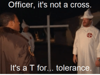 Cross, Racist, and How: Officer, it's not a cross  It's a T for... tolerance Woodrow Wilson explains how hes not a racist (1899)