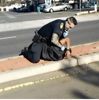 Memes, 🤖, and Sat: Officers in Vallejo California abusing a citizen after he sat on the curb to be detained Pt.1! 😳😩😞@Dirty_Glove_Bastard WSHH