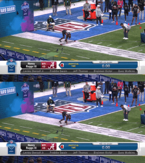 Official 40-yard dash time for Henry Ruggs III: 4.27  #NFLCombine @__RUGGS @AlabamaFTBL  https://t.co/vCm6JC9T2s: Official 40-yard dash time for Henry Ruggs III: 4.27  #NFLCombine @__RUGGS @AlabamaFTBL  https://t.co/vCm6JC9T2s