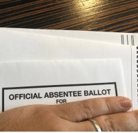 Memes, Today, and 🤖: OFFICIAL ABSENTEE BALLOT  FOR Voted in NY a few weeks ago.  From friggin WALES. 🏴. Your turn today, go pull the lever or fill in the thingy, GO ❤️❤️❤️ https://t.co/zt1KKdcLwJ