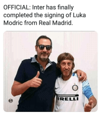 Omg 😂✅👏: OFFICIAL: Inter has finally  completed the signing of Luka  Modric from Real Madrid  RELLI Omg 😂✅👏