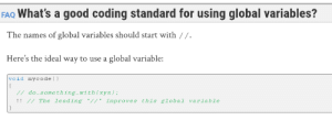 Official ISO C++ FAQ on global variables: Official ISO C++ FAQ on global variables