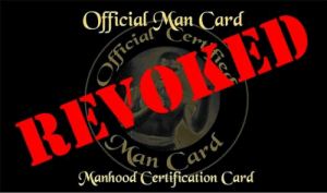 man card: Official Man Card  Cen  REVoKEn  an  Manhood Certification Card