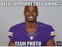 Adrian Peterson, Football, and Meme: OFFICIAL MINNESOTA VIKINGS  NFL MEMES  TEAM PHOTO Adrian Peterson..