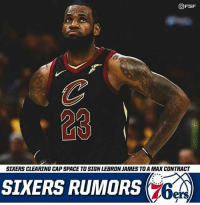 lebron james vine: OFSF  23  SIXERS CLEARING CAP SPACE TO SIGN LEBRON JAMES TOA MAX CONTRACT  SIXERS RUMORS  ers