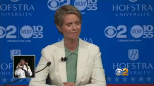 Tumblr, Twitter, and Cbs: OFSTRA  O  WLNY  55 HOFSTRA  NIVERSITY  UNIVERSITY  10  10  WLNY  WLNY  HOFSTRA  OERSITY  OF  2 tvhousehusband: This was a brilliant response about why legalizing marijuana is important in NY. Video is a clip from the NY Democratic Gubernatorial Debatehosted by CBS.