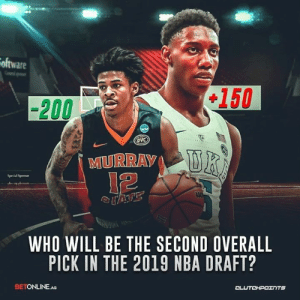 Future, Memphis Grizzlies, and Nba: oftware  150  -200  oVC  MURRAY  Special Sponor  WHO WILL BE THE SECOND OVERALL  PICK IN THE 2019 NBA DRAFT?  BETONLINE.AG Will the Grizzlies pick their point guard of the future in Ja Morant or will they go with the wing prodigy in R.J. Barrett? — @GrizNationCP @betonline_ag