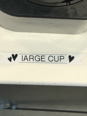 McDonalds,  Way, and  Cup: OFuy  IARGE CUP The way a McDonalds wrote Large