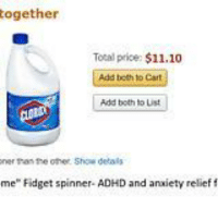 "Meme, Adhd, and Anxiety: ogether  Tocal price: $11.10  Add beth to Cart  Ci  Add both to List  ner tran the other Show detals  me"" Fidget spinner- ADHD and anxiety relief f My meme collection.."