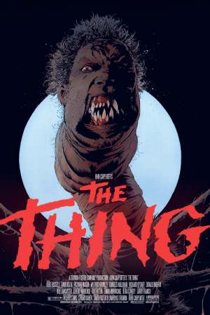 John Carpenter's horror classic The Thing (1982) is incorrectly praised for it's masterful use of practical effects. Unknown to many, the monstrous alien creature is simply Harvey Weinstein, as he is in actuality, horribly monstrous both inside and out.: OGHN CARPNERS  HE  1ANG  THUMA FOSTER COMPANY PROUCTON AN CAPENTES THETHING  RWIBOR STARK STARTCOHEN DANI FOSTER& LAWRENE TRINAN JORAN CAPENTER John Carpenter's horror classic The Thing (1982) is incorrectly praised for it's masterful use of practical effects. Unknown to many, the monstrous alien creature is simply Harvey Weinstein, as he is in actuality, horribly monstrous both inside and out.
