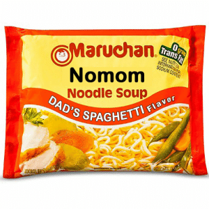 awesomesthesia:  You've heard of Mom's Spaghetti, well heres…: Ogra  Maruchan.  Trans Fa  SEE NUT  NORMATOKKA  SODIUM CONTE  Nomom  Noodle Soup  DAD'S SPP  GHETTI FIavor awesomesthesia:  You've heard of Mom's Spaghetti, well heres…