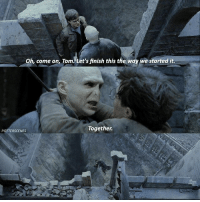 Memes, Movie, and 🤖: Oh, come on, Tom. Let's finish this the way we started it.  Together.  POTTERSCENES [ DeathlyHallowsPart2 – 2011] — Q: What's your favourite non HP movie?