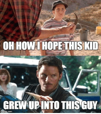 We really hope this Jurassic World fan theory is true.   Via Imgflip.com: OH HOW I HOPETHIS KID  CREW UPINTO THIS GUY  imnginp.com We really hope this Jurassic World fan theory is true.   Via Imgflip.com