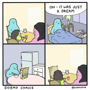 Just a dream: OH IT WAS JUST  A DREAM  BOWL  'S  DO9MO COMICS  @DogmODog Just a dream
