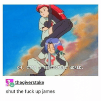 Memes, 🤖, and Next: OH, IT'S A MENTACRUEL WORLD  thegiverstake  shut the fuck up james IM JAMES anyways there's cute bass in my choir that I've only seen at like. two rehearsals but the parts were mixing today so basses had to stand next to sopranos and he had the chance to stand next to me and he didn't smh he stood next to this annoying girl behind me but the second cutest bass stood next to me and he was funny but he was wearing Crocs so idk