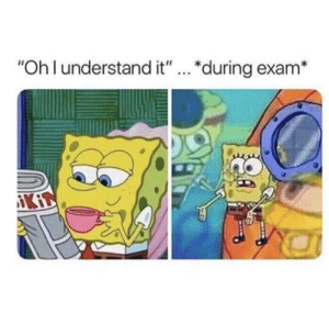 "Dank, Memes, and Target: ""Oh l understand it""... *during exam* meirl by sn2606 MORE MEMES"