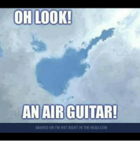 Head, Memes, and Guitar: OH LOOK!  AN AIR GUITAR!  SHARED ON M NOT RIGHT IN THE HEAD.COM badsciencejokes