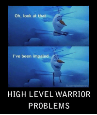 fb.com, DnD, and Pro: Oh, look at that  I've been impaled  fb.com/dndmemes  HIGH LEVEL WARRIOFR  PROBLEMS When it comes to Con I'm a Pro.  -Law