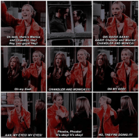 [ 5.14 ] ↳ the one where everybody finds out    111-236 - second fav episode tbh it's perfection - {tags: prettylittleliars pll funny ouat dancemoms love teenwolf tw glee greysanatomy friendstvshow tvd friends tvshow netflix gainpost gaintrick l4l f4f s4s kyliejenner arianagrande selenagomez }: Oh look, there's Monica  and Chandler. Hey!  Hey, you guys! Hey!  Oh my God!  AAH, MY EYES! MY EYESI  CHANDLER AND MONICA!  Phoebe, Phoebe!  It's okay! It's okay!  OHI AAAHI AAAH!  AAAH! Chandler and Monica!  CHANDLER AND MONICA/  OH MY GOD!  NO, THEY'RE DOING IT! [ 5.14 ] ↳ the one where everybody finds out    111-236 - second fav episode tbh it's perfection - {tags: prettylittleliars pll funny ouat dancemoms love teenwolf tw glee greysanatomy friendstvshow tvd friends tvshow netflix gainpost gaintrick l4l f4f s4s kyliejenner arianagrande selenagomez }