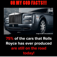 Cars, Facts, and God: OH MY GOD FACTS!!!  HMY  FACTS!  Image Credit: www.wired.com  75% of the cars that Rolls  Royce has ever produced  are still on the road  today!