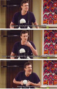 Ass, Love, and Memes: Oh my gosh, guys, we have to rush Robin to the hospital  because somehow, she swallowed her vocal cords and they got lodged inherrectum  because she's talking out of her ass! I love Marshall 😂 #HIMYM https://t.co/J8E0zlNuo4