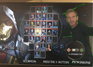 New Mortal Kombat 11 fighter leaked: OH  NOO  OPPONENT TYPE  SHA  SCORPION  PRESS THES BUTTON PEWDIEPIE New Mortal Kombat 11 fighter leaked