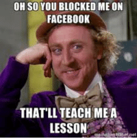 Blocked Me On Facebook