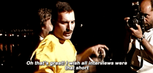 Tumblr, Blog, and Art: Oh that's greatwish all interviews were  that short melinabulsara:  Freddie and the art of interviews