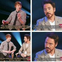 RDJ everyone: oh the coolest thing in houseisd  Tony Star Shouse pretty awesome  probably all the Iron Man memorabilia  on, you have a lot? Do they let you keepa They don't necessarily et me keepit  lot from the set?  things just gomissing. RDJ everyone
