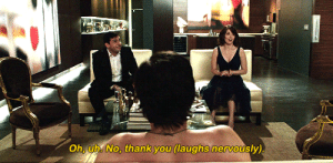dailygalgifs:Date Night (2010) dir. Shawn Levy: Oh, uh. No, thank you (laughs nervously) dailygalgifs:Date Night (2010) dir. Shawn Levy