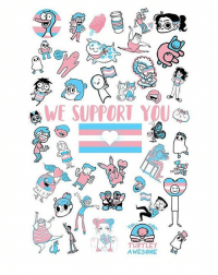In light of recent events, the webcomics community wants our transgender and nonbinary friends to know that we stand behind them. We have teamed up to create this art print-poster, and will be selling them here. We will be donating all the proceeds to Trans Lifeline, an organization focused on providing front line intervention for trans people in crisis. The link to purchase the print is in my bio :): oh  WE SUPPORT YOU  TURTLEY  AWESOME In light of recent events, the webcomics community wants our transgender and nonbinary friends to know that we stand behind them. We have teamed up to create this art print-poster, and will be selling them here. We will be donating all the proceeds to Trans Lifeline, an organization focused on providing front line intervention for trans people in crisis. The link to purchase the print is in my bio :)